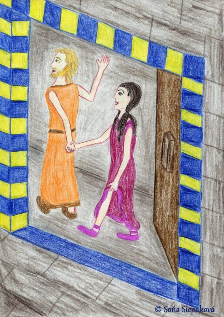 Kapitola 13 románu Milovaná Sluncem: Škola